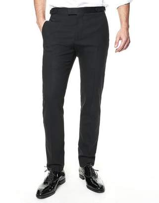Todd Snyder Black Label Sutton Tuxedo Pant in Black Italian Wool