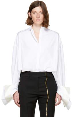 Haider Ackermann White Double Cuff Byron Shirt