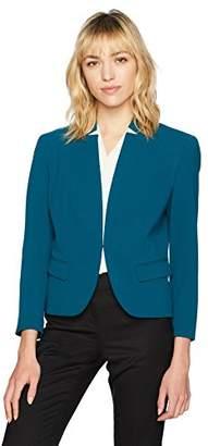 Nine West Women's Solid Crepe Kiss Front Jacket (2)