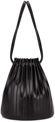 Mansur Gavriel Pleated Bucket Bag in Black | FWRD