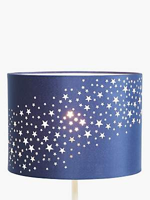 John Lewis & Partners little home at Stardust Lampshade, Navy