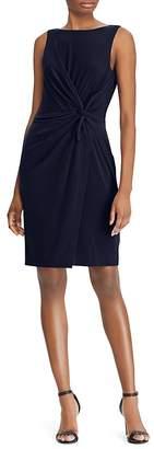 Lauren Ralph Lauren Twist-Front Sheath Dress