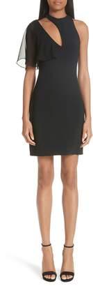 Cushnie et Ochs Xandra Chiffon Sleeve Cutout Dress