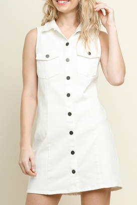 Umgee USA Sleeveless Denim Dress