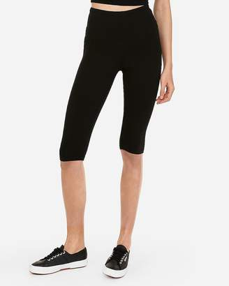 Express High Waisted Slimming Sexy Stretch Capri Leggings
