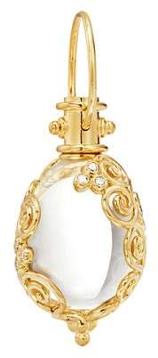 Temple St. Clair 18K Yellow Gold Lattice Diamond & Rock Crystal Amulet