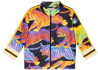 Gucci Baby sweatshirt with rainbow tigers