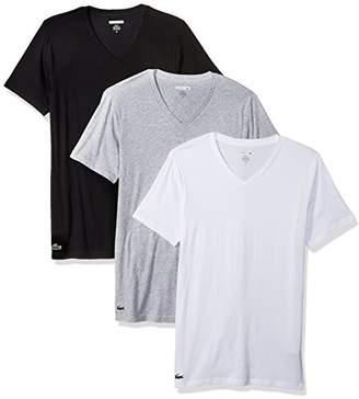 Lacoste Men's 3PK Supima Cotton Slim FIT Vneck TEE,XL