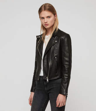 AllSaints Bircham Leather Biker Jacket