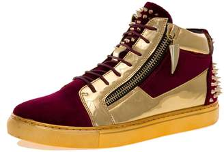 Jump J75 by Men's Zack Round Toe Leather Lace-up 9 D US Men Mid-Top Sneaker