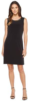 Calvin Klein Sleeveless Dress with Rivet and Chain Women's Dress