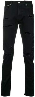 Alexander McQueen destroyed slim-fit jeans