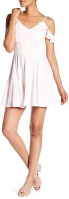 Amanda Uprichard Tate Print Cold Shoulder Dress
