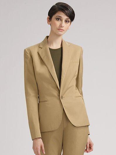 Ralph Lauren Black Label Johanna Cotton/Silk Jacket