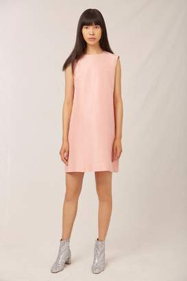 Mansur Gavriel Taffeta Mini Dress - Blush