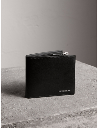 Burberry Leather International Bifold ID Coin Wallet $425 thestylecure.com