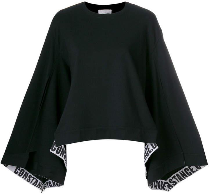 Constance C logo band split sweatshirt