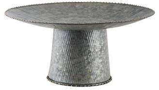 "Home Essentials and Beyond 10"" Galvanized Single Tier Cake Stand"