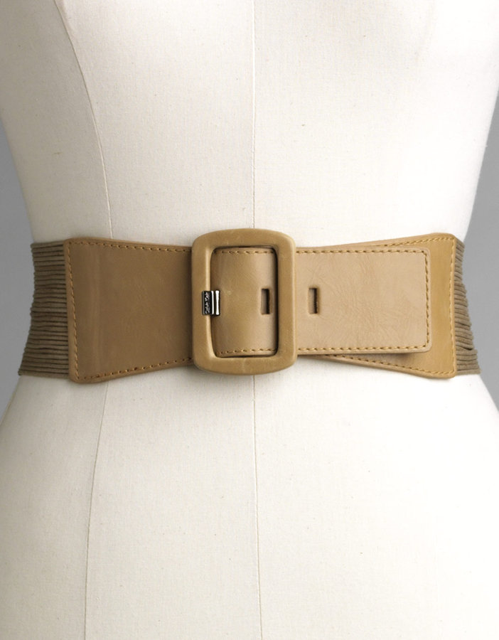 CALVIN KLEIN Waxed Cord Covered Buckle Belt