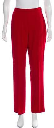 Max Mara High-Rise Wool-Blend Pants