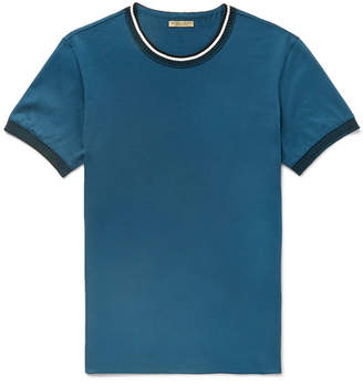 Bottega Veneta Knit-Trimmed Cotton-Jersey T-Shirt