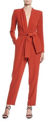 A.L.C. Kieran Belted Long-Sleeve Jumpsuit