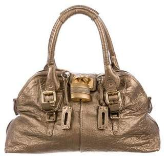 Chloé Metallic Leather Paddington Bag