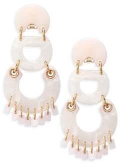 Lele Sadoughi Pinata Rose Quartz Chandelier Earrings