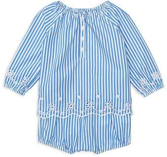 Ralph Lauren Girls' Eyelet Poplin Top & Bloomers Set - Baby