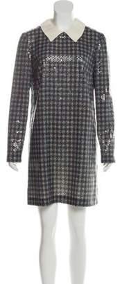 Prada Sequined Shift Dress lime Sequined Shift Dress