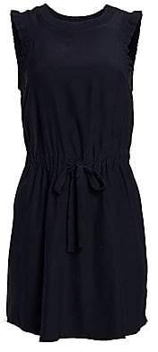 Cinq à Sept Women's Lenore Drawstring Waist Silk Dress