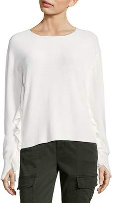 John & Jenn John + Jenn Women's Ripple Sleeve Sweater