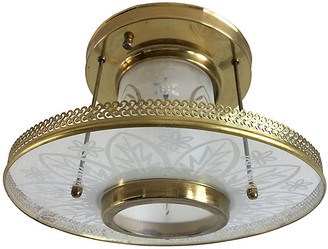 One Kings Lane Vintage Frosted Glass Ceiling Light - C the Light Interiors