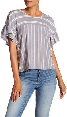 Lucky Brand Ruffle Stripe Top