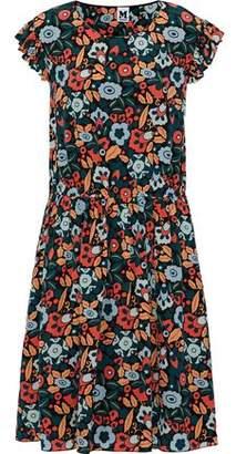 M Missoni Ruffle-Trimmed Floral-Print Silk Dress