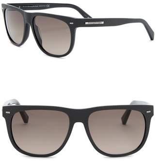 Ermenegildo Zegna Uomo Square 56mm Acetate Frame Sunglasses
