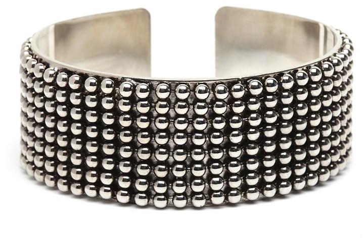 Silver Caviar Cuff