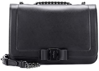 Salvatore Ferragamo Small Vara Rainbow leather shoulder bag
