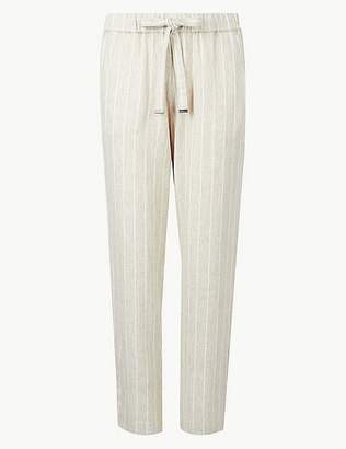 Marks and Spencer Striped Tapered Leg Peg Trousers