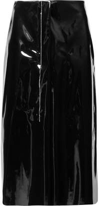 Marni Faux Patent-leather Midi Skirt - Black