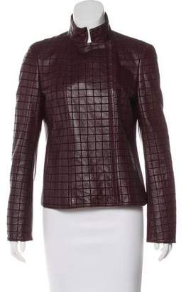 Akris Quilted Leather Moto Jacket