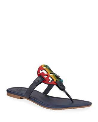Tory Burch Miller Rainbow Flat Sandals