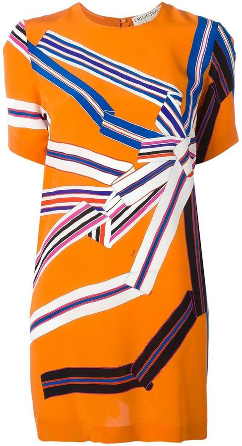 Emilio Pucci Emilio Pucci geometric print T-shirt dress