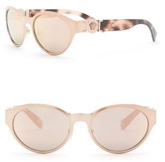 Versace 55mm Oval Sunglasses