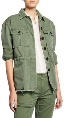 Derek Lam 10 Crosby Button-Front Cotton Utility Jacket
