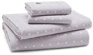 Lacoste Geo Compass Percale Sheet Set, Queen