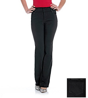 Amy Byer Satin Piped Trouser Pant