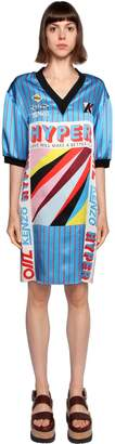 Kenzo Hyper Printed Silk Satin Dress
