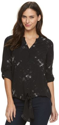 Women's Apt. 9® Textured High-Low Blouse $36 thestylecure.com
