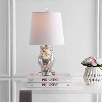 Jonathan Y Night Owl Glass, Crystal Led Table Lamp